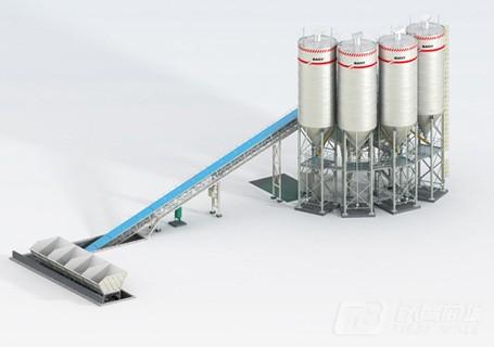 三一HZS120C6骨料输送斜皮带系列搅拌站