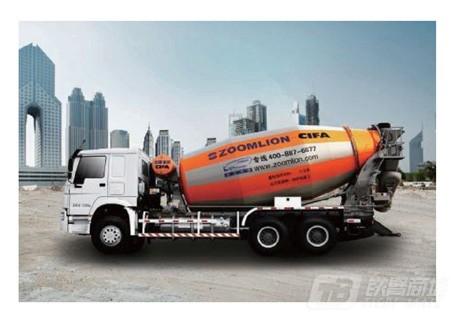 中联重科三桥D系列重汽底盘LNG搅拌车混凝土搅拌运输车