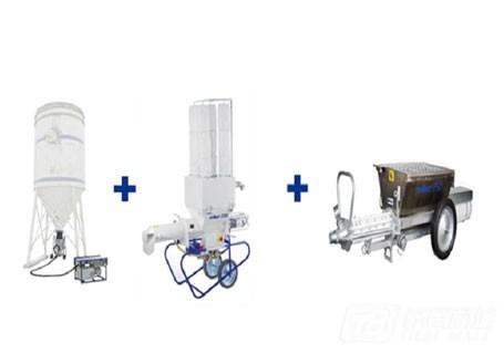 中联重科22方散装筒仓+ D30连续搅拌机+ P干粉/砂浆生产设备