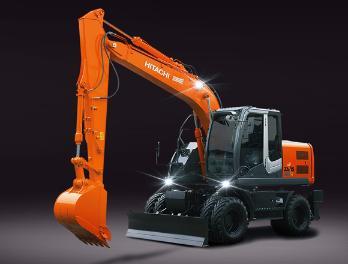 原装日立ZX140W-3轮式挖掘机