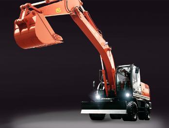 原装日立ZX210W-3轮式挖掘机