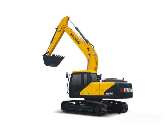 现代R215vs履带挖掘机