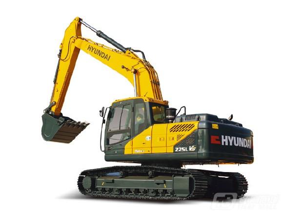 现代R225vs履带挖掘机