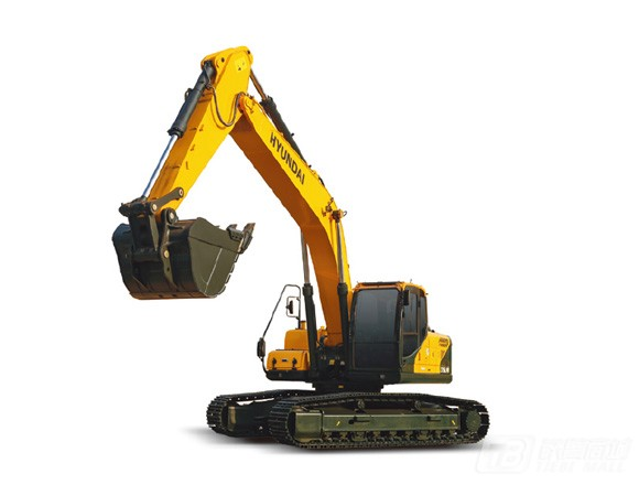 现代R275vs履带挖掘机