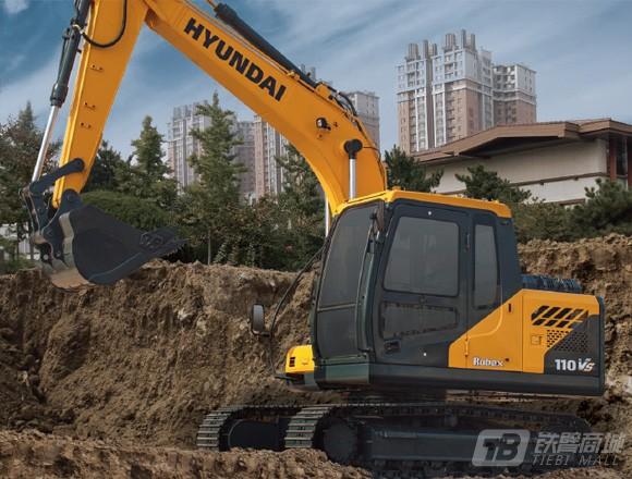 现代R110L VS履带挖掘机