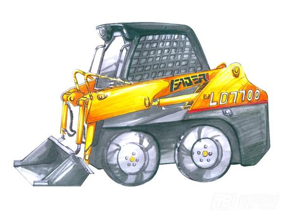 雷道LD7700滑移装载机