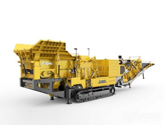徐工履带移动反击式破碎机干粉/砂浆生产设备