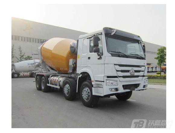 徐工XSL4313重汽天然气系列四桥混凝土搅拌运输车