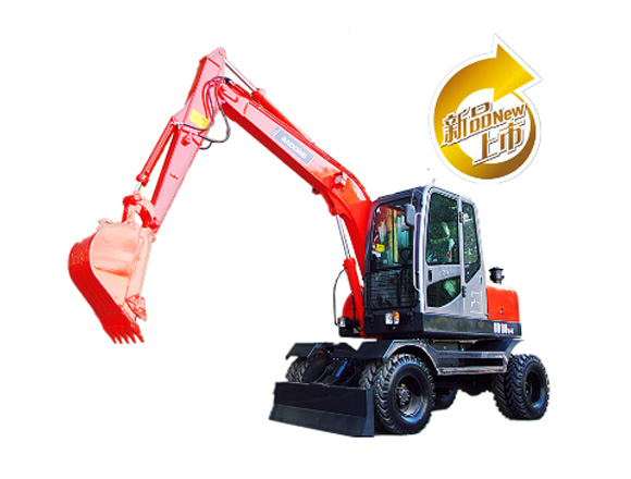 宝鼎BD80-6轮式挖掘机图片