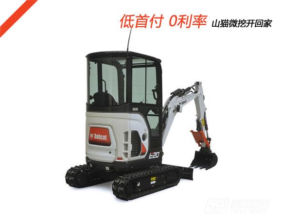 山猫E20履带挖掘机图片