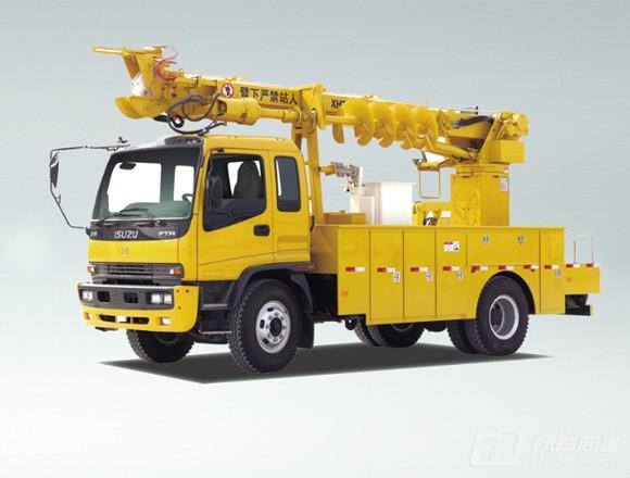 海伦哲XHZ5130TXGD5东风14m 线杆综合作业车