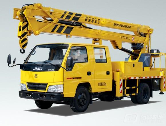 海伦哲XHZ5068JGKJ51江铃17.6m折叠臂高空作业车
