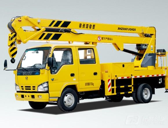 海伦哲XHZ5067JGKQ5庆铃18.5m折叠臂高空作业车
