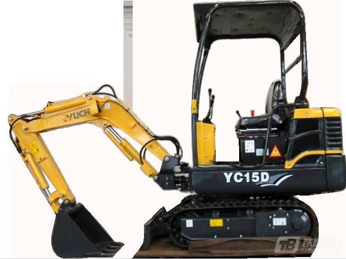 玉柴YC15D电动履带挖掘机
