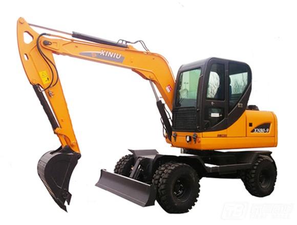 犀牛重工XN80-9轮式挖掘机