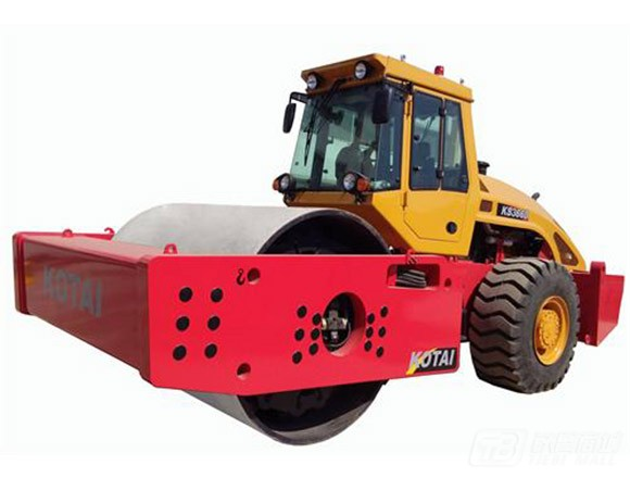 科泰重工KS366HD全液压单钢轮压路机