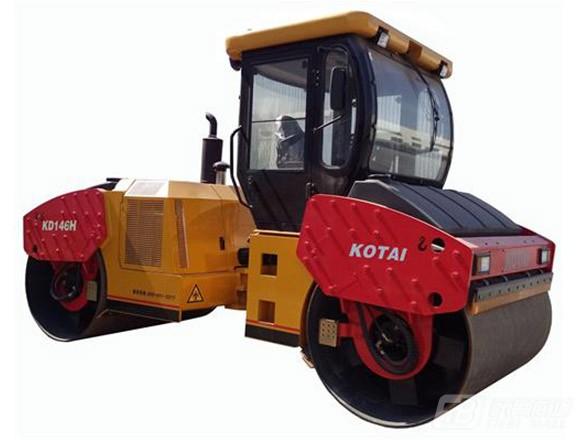 科泰重工KD146H全液压双钢轮压路机