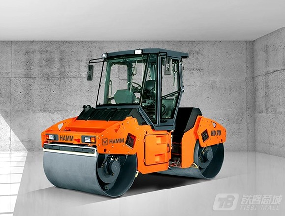 悍马HD70双钢轮压路机