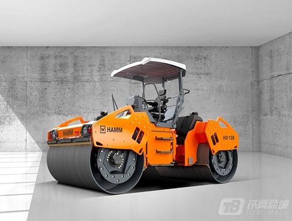悍马HD138双钢轮压路机