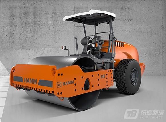 悍马318光轮式单钢轮压路机