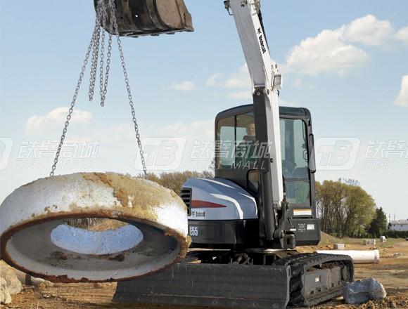 山猫E55履带挖掘机图片