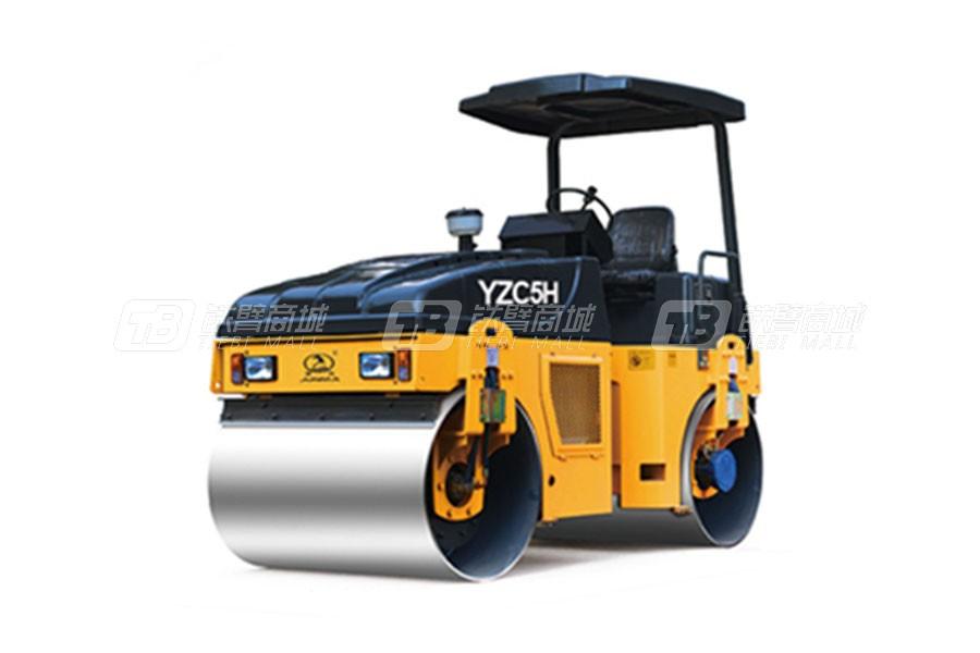 骏马YZC5H/YZDC5H全液压双钢轮振动/振动振荡压路机