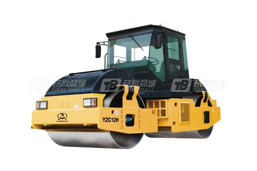 骏马YZC12H全液压双钢轮振动压路机