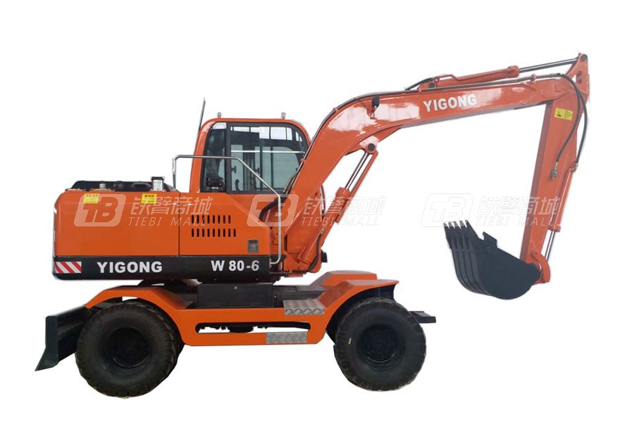 富亿W80-6轮式挖掘机