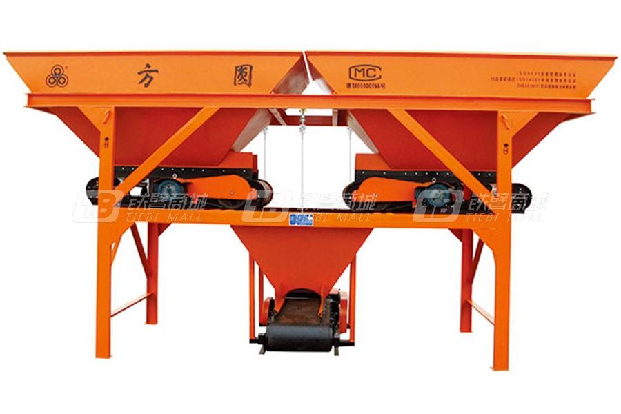 方圆PLD800两种料混凝土配料机