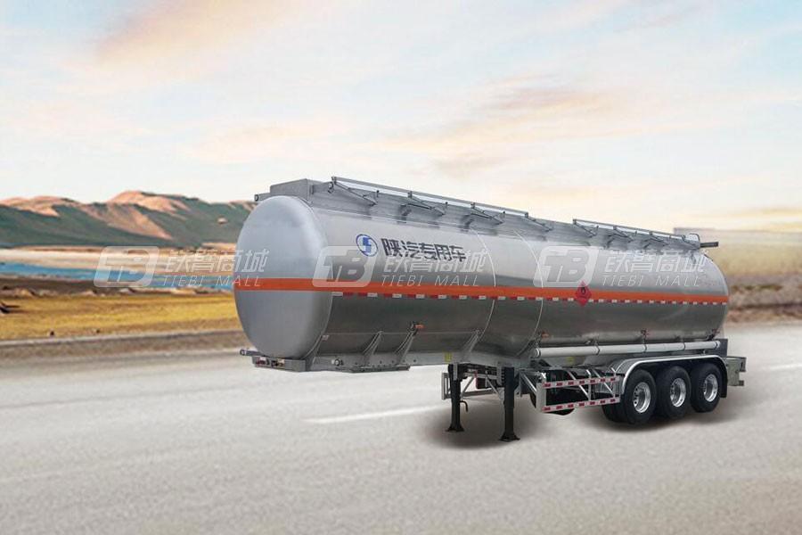 陕汽铝合金易燃液体罐式运输半挂车