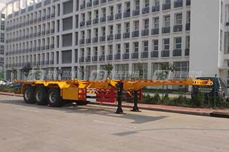 中国重汽QDZ9400TJZ集装箱运输半挂车