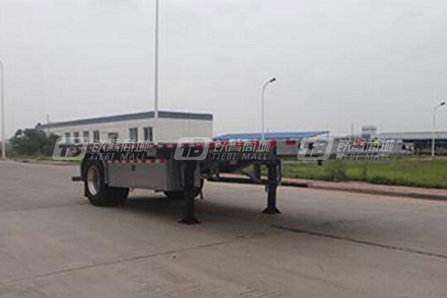中国重汽QDZ9130TPB平板运输半挂车