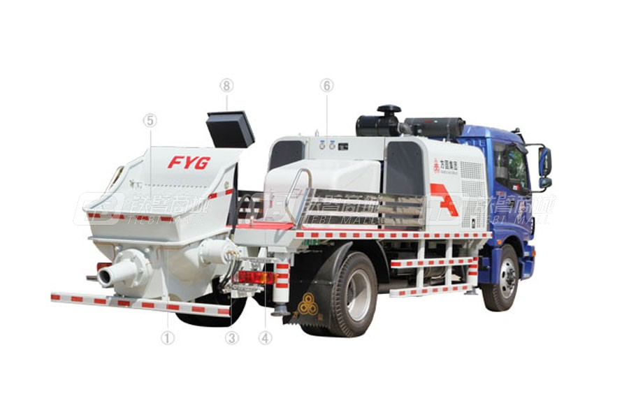 方圆FYG5120THB混凝土车载泵