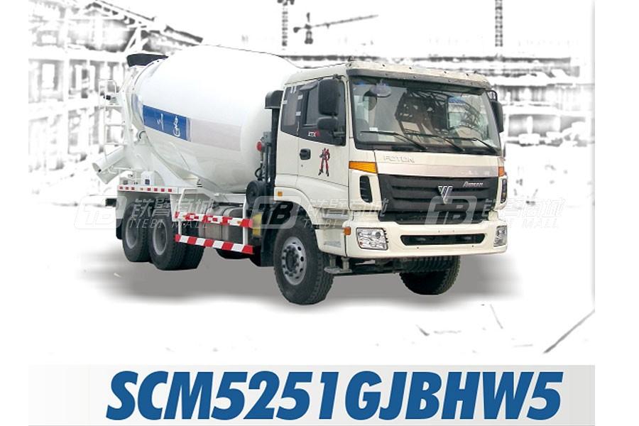 四川建机SCM5251GJBHW5混凝土搅拌运输车