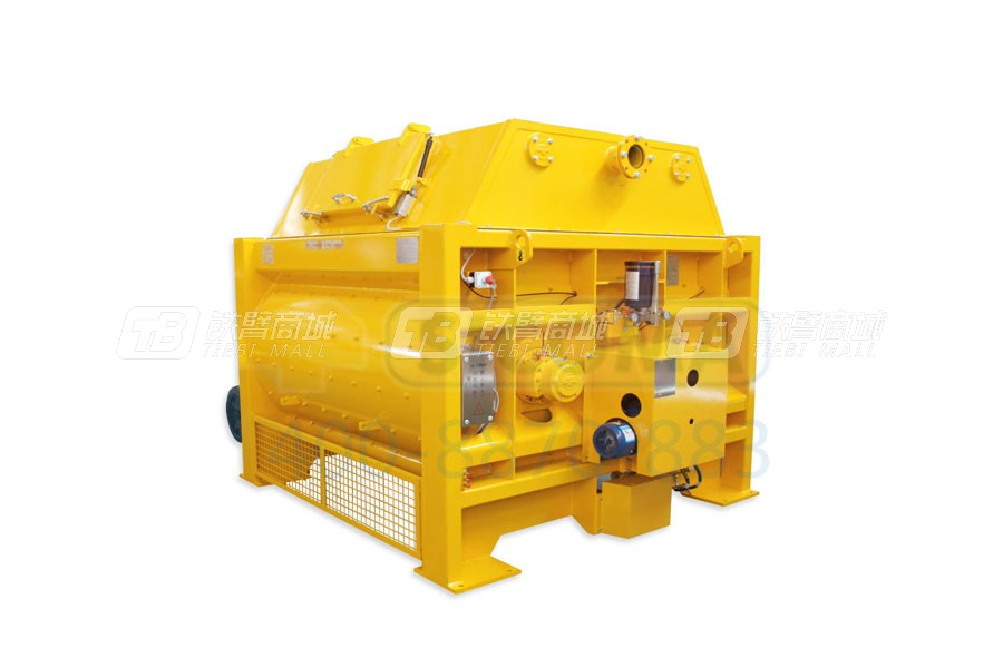仕高玛MSO 1000小型双卧轴商品混凝土搅拌机