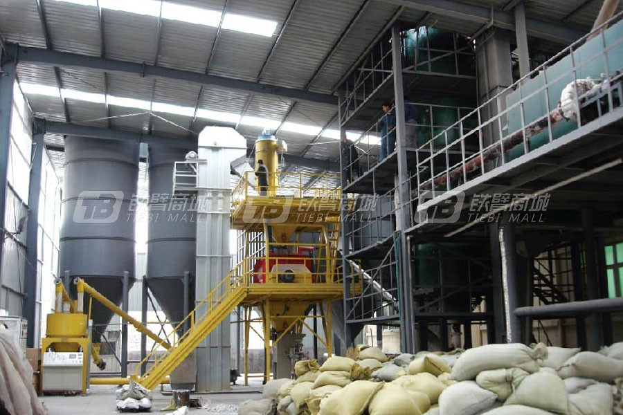 新型建机GSW1000车间式干粉砂浆生产线