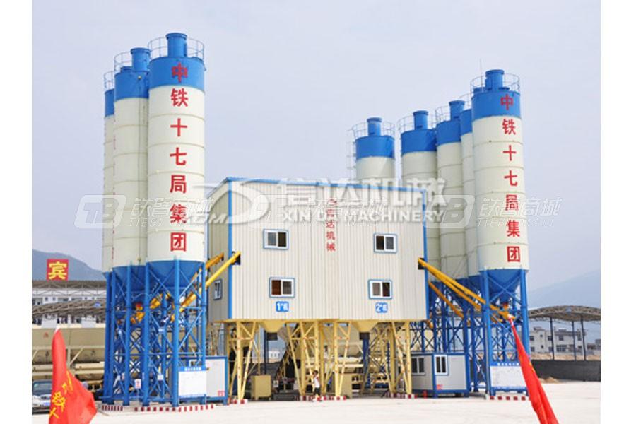 信达机械HZS120高性能混凝土搅拌站