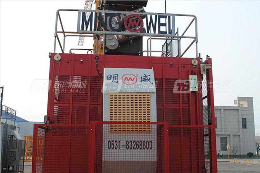 明威塔机650双驱施工升降机