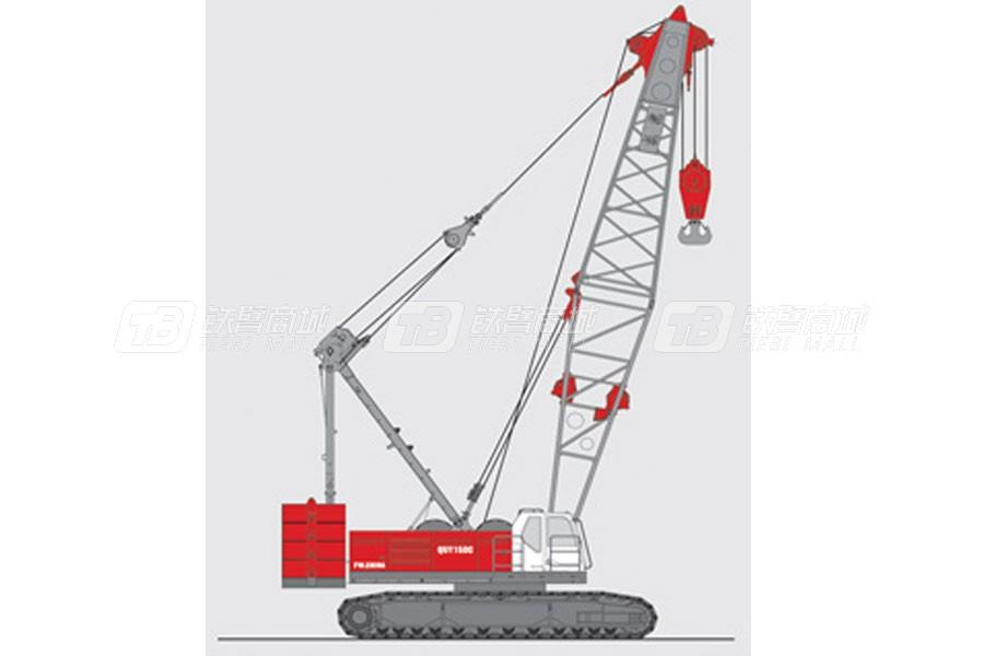 抚挖重工QUY150C液压履带式起重机外观图