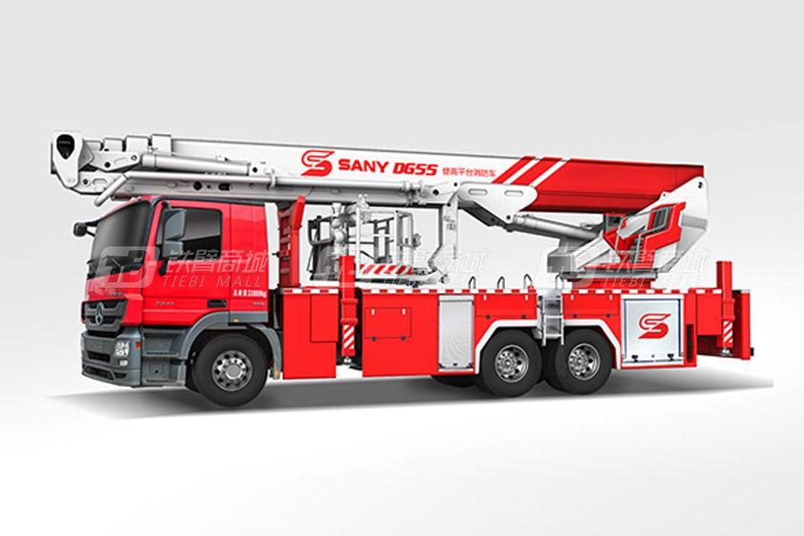 三一SYM5330JXFDG55 55米三一登高平台消防车