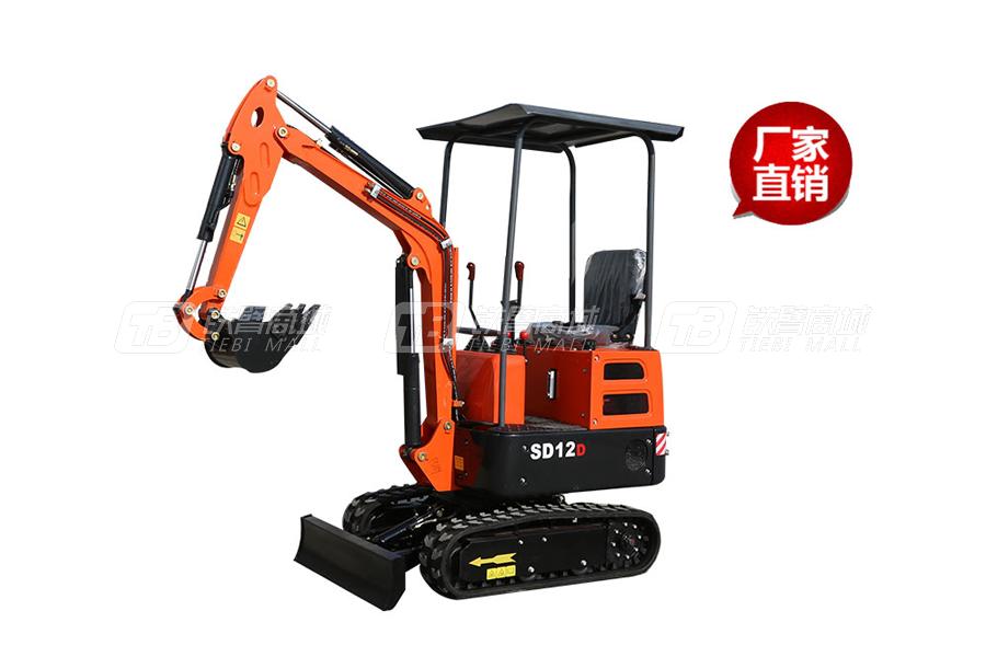 山鼎SD12D小型挖掘机