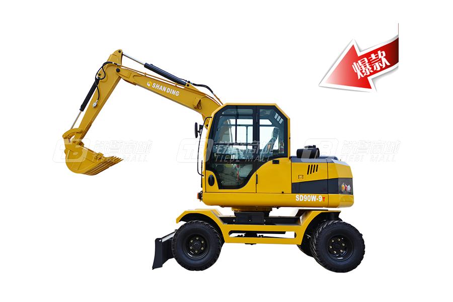 山鼎SD90W-9T轮式挖掘机