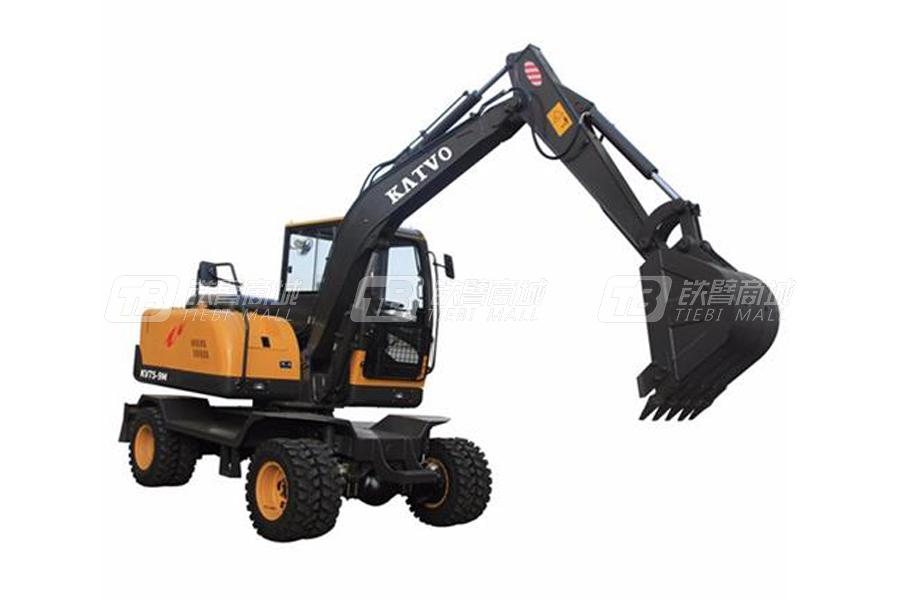 凯迪沃7吨恒压恒功率全液压小型轮式挖掘机