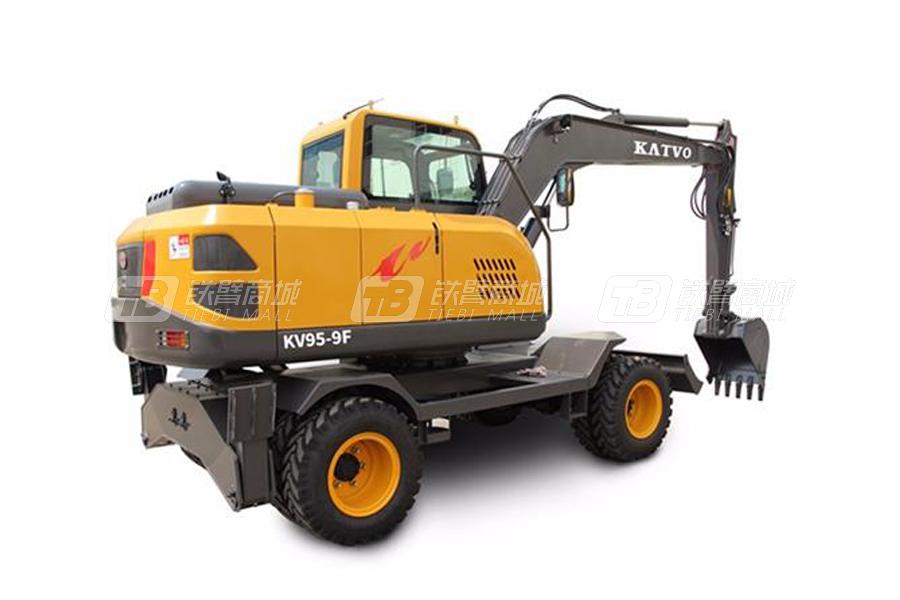凯迪沃KV95-9M小型轮式挖掘机