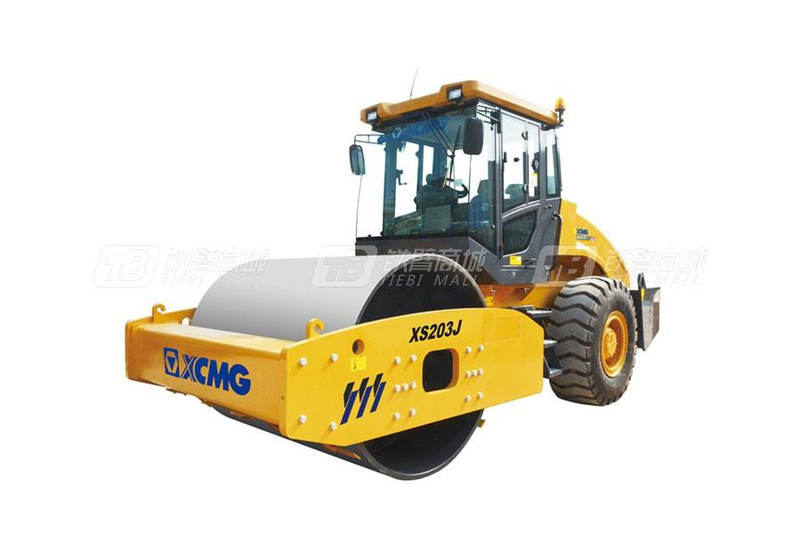 徐工XS203J机械单钢轮压路机图片