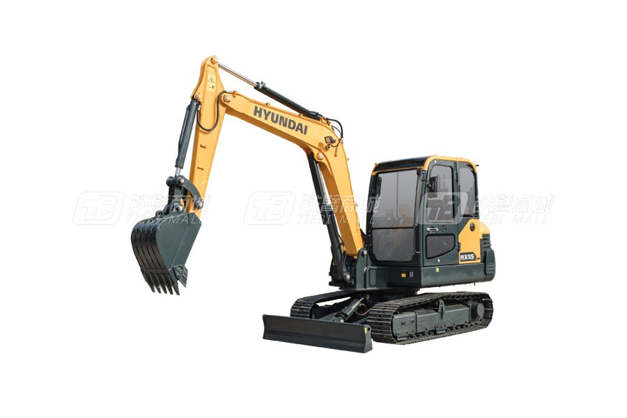 现代HX55小型履带挖掘机