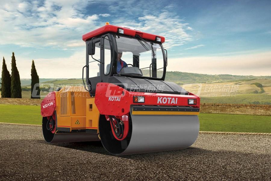 科泰重工KD126H全液压双钢轮压路机