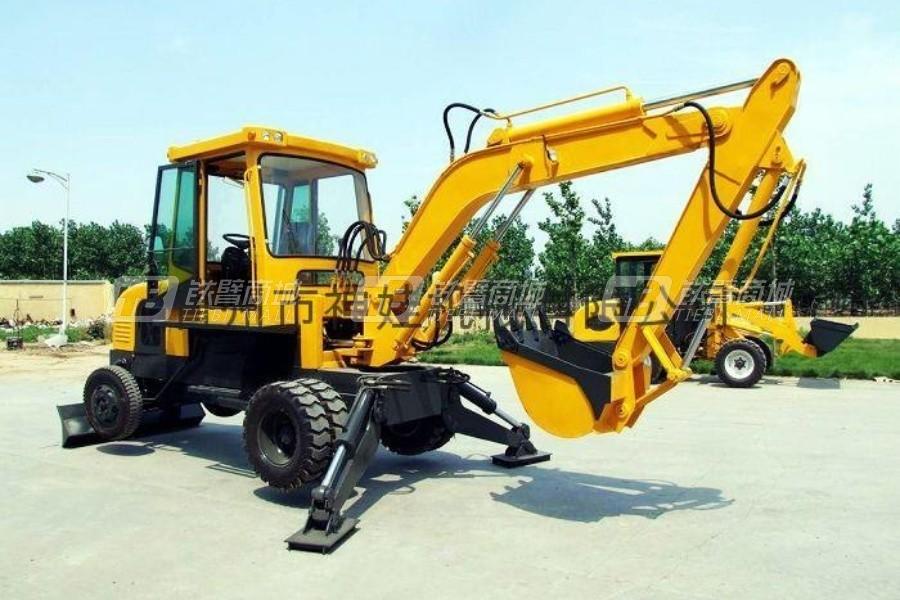 神娃SW45C轮式挖掘机