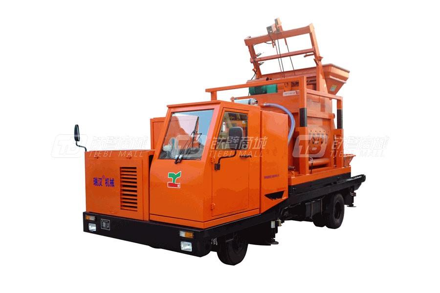 瑞恒重工R75强制式搅拌车载泵