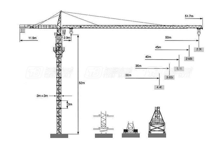 克瑞FO23B(5023)塔式起重机